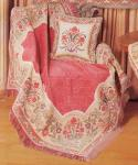 Italian Floral Throw with Chenille