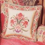 Italian Floral Pillow with Chenille